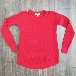 Michael Kors Red Textured Sweater - small